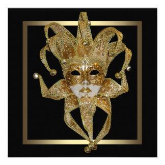 Fiesta veneciano de la mascarada de la máscara del invitacion personal