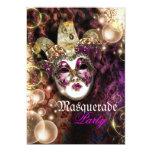 Fiesta veneciano del carnaval de la máscara de la invitación 12,7 x 17,8 cm
