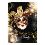Fiesta veneciano del carnaval de la mascarada de invitación 12,7 x 17,8 cm