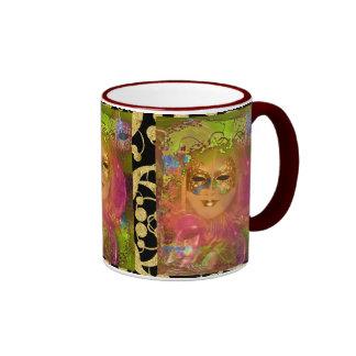 Fiesta veneciano del traje de mascarada de la taza de dos colores