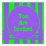 fiesta verde púrpura de la raya comunicados personales