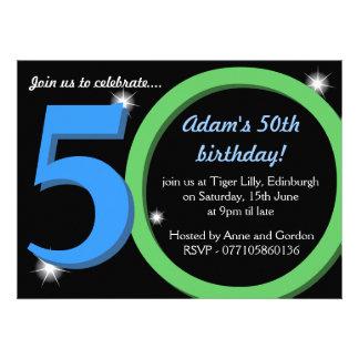Fiesta verde quincuagésima 50 a de cumpleaños del comunicado personal