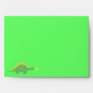 Fiesta verde y amarillo lindo del dinosaurio y de