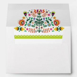 Fiesta Wedding Invitation Mexican Envelopes