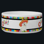 """Fiesta Westie Bowl<br><div class=""""desc"""">Hola! Time for fun and celebration! Sing and play with your favorite fiesta-loving dog. Celebrate Cinco de Mayo or any other fiesta time with your cute sombrero-wearing West Highland White Terrier!</div>"""