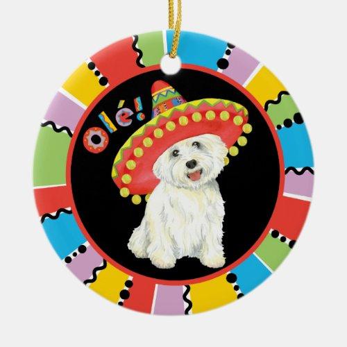 Fiesta Westie Ceramic Ornament