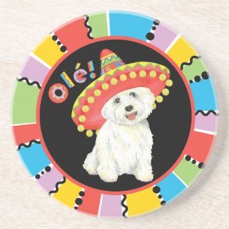 Fiesta Westie Sandstone Coaster