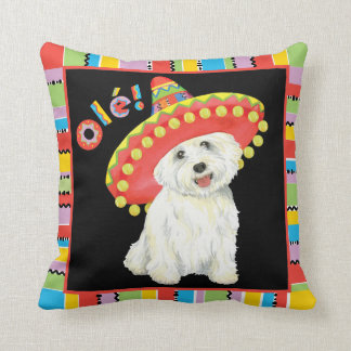 Fiesta Westie Throw Pillow