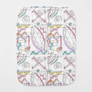 Fiesta-Whimsical Abstract Art Burp Cloth