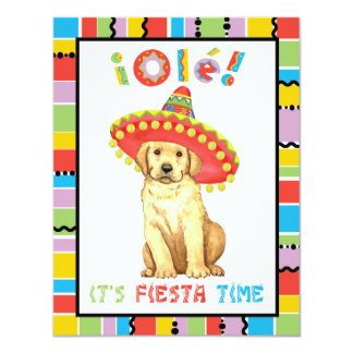 Fiesta Yellow Lab Card