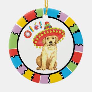 Fiesta Yellow Lab Ceramic Ornament