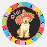Fiesta Yellow Lab Classic Round Sticker