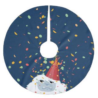 Fiesta Yeti del confeti Falda Para Arbol De Navidad De Poliéster