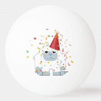 Fiesta Yeti del confeti Pelota De Ping Pong