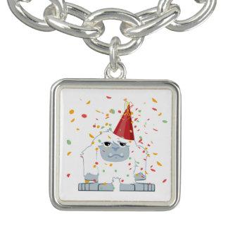 Fiesta Yeti del confeti Pulsera
