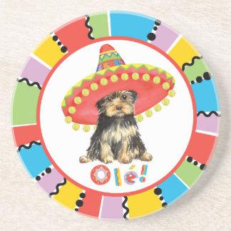 Fiesta Yorkie Sandstone Coaster