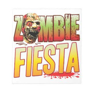 Fiesta Zombie Head Memo Note Pad