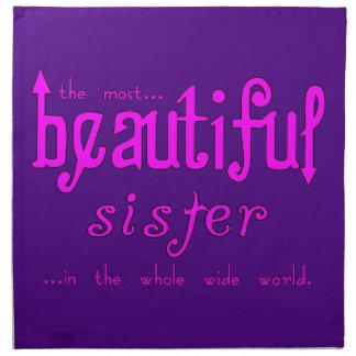 Fiestas de cumpleaños de las hermanas: Hermana her Servilleta De Papel
