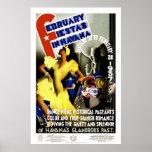 Fiestas de febrero en viaje del vintage de La Posters