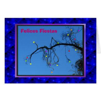 Fiestas de Felices - púrpura de Azul y Tarjeta De Felicitación
