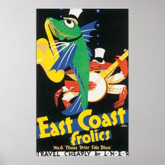 Fiestas de la costa este posters