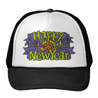 Fiestas de la Feliz Año Nuevo Gorra