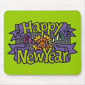 Fiestas de la Feliz Año Nuevo Alfombrilla De Raton