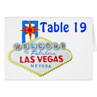 Fiestas de Las Vegas asignados tarjetas de la