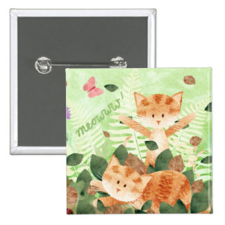 Fiestas del follaje de los gatos - insignia del pe pin cuadrado
