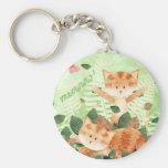 Fiestas del follaje de los gatos llaveros personalizados
