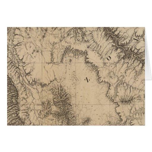 Fiestas del mapa, del río y de la tierra tarjeta de felicitación