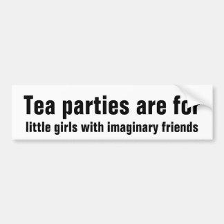 Fiestas del té para las niñas con el amigo imagina pegatina para auto