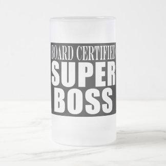 Fiestas en la oficina de los jefes: El tablero cer Taza Cristal Mate