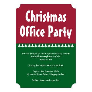 """Fiestas en la oficina verdes rojas simples del invitación 5"""" x 7"""""""