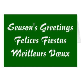 Fiestas Meilleurs Vœux de Felices de los saludos d Tarjeta De Felicitación