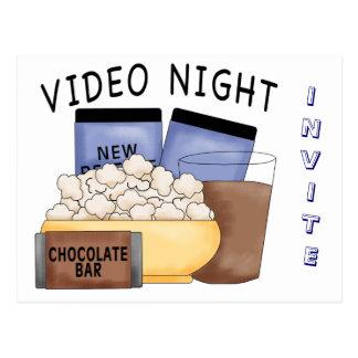 Fiestas video de la noche de la postal