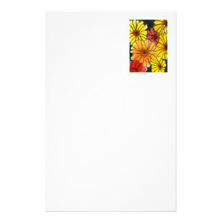 """""""Fiesty Floral #3"""" Floral Stationery"""