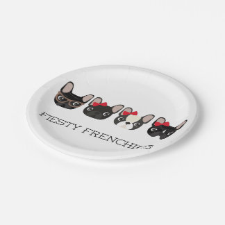 Fiesty Frenchies Paper Plates