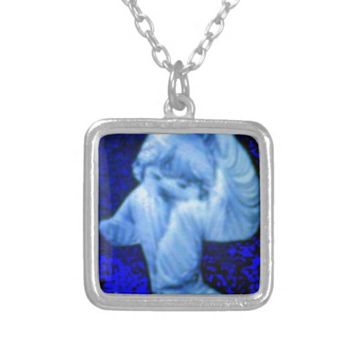 Fiesty Kid Square Pendant Necklace