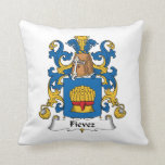 Fievez Family Crest Throw Pillow