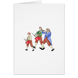 FIFE AND DRUM BAND CARD