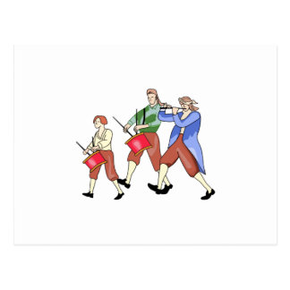 FIFE AND DRUM BAND POSTCARD