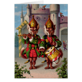 Fife & Drum Foxes Note Card