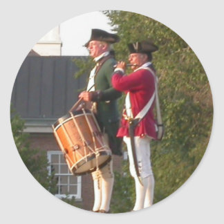 Fife & Drum over the Fort Classic Round Sticker