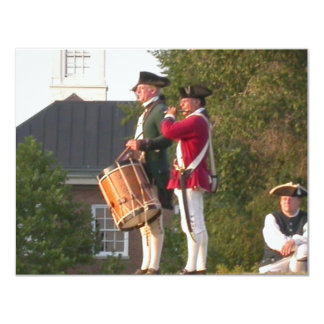"""Fife & Drum over the Fort 4.25"""" X 5.5"""" Invitation Card"""
