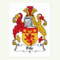 Fife Family Crest Postcard