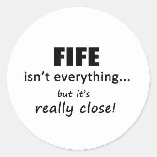 Fife Isn't Everything Classic Round Sticker