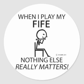 Fife Nothing Else Matters Classic Round Sticker