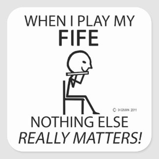 Fife Nothing Else Matters Square Sticker
