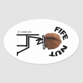 Fife Nut Oval Sticker